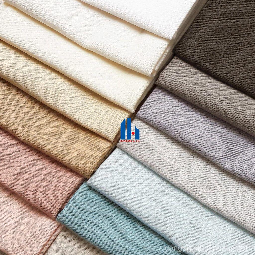 Các loại vải phổ biến may đồng phục Nghệ An