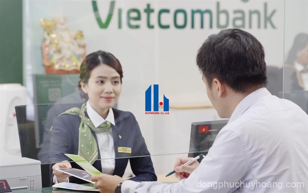may đồng phục ngân hàng vietcombank