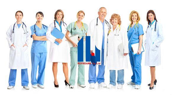 May đồng phục y tế