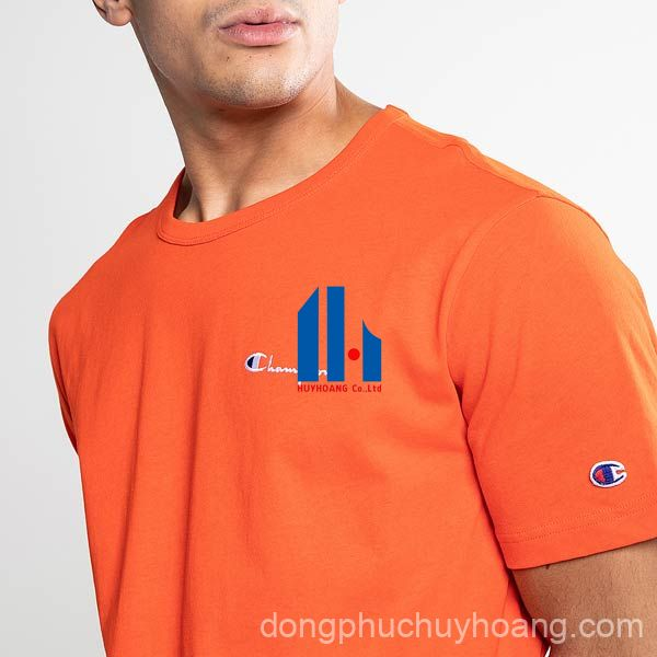 áo phông đồng phục màu cam