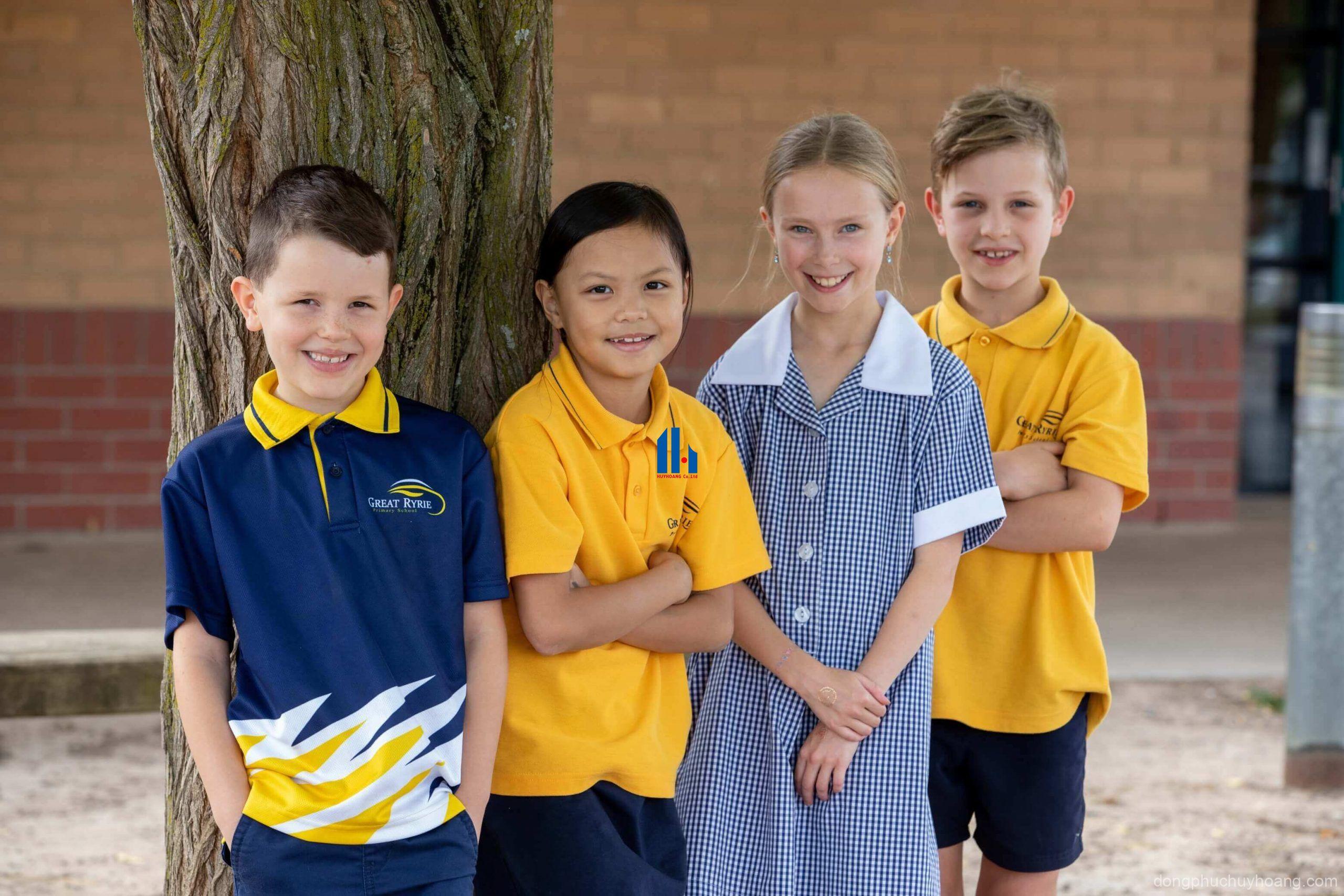 áo phông đồng phục lớp tiểu học